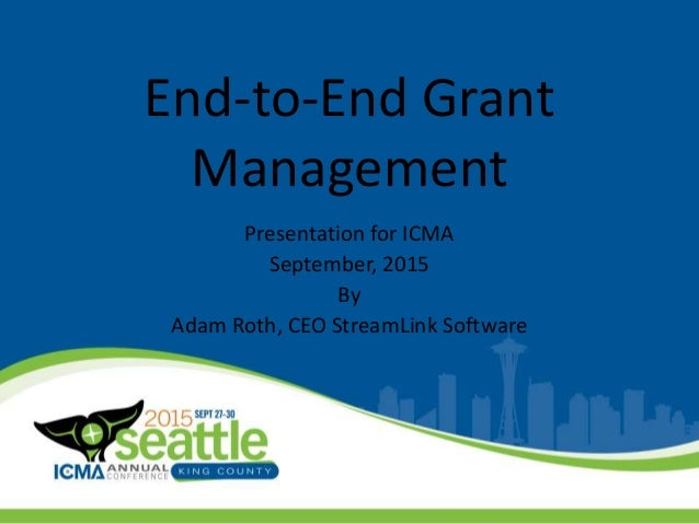 End-to-End Grant Management
