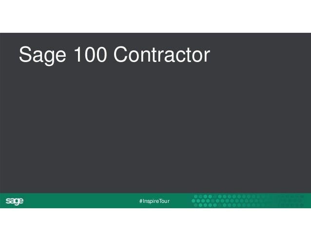 Sage 100 Contractor  #InspireTour