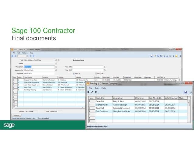 #InspireTour  Sage 100 Contractor  Final documents