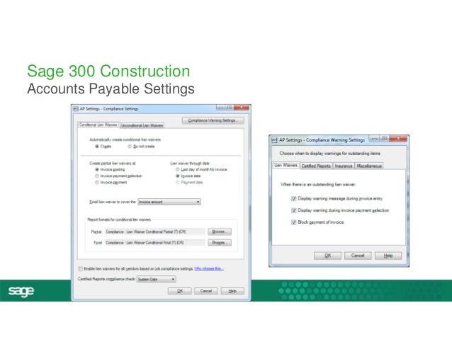 #InspireTour  Sage 300 Construction  Accounts Payable Settings