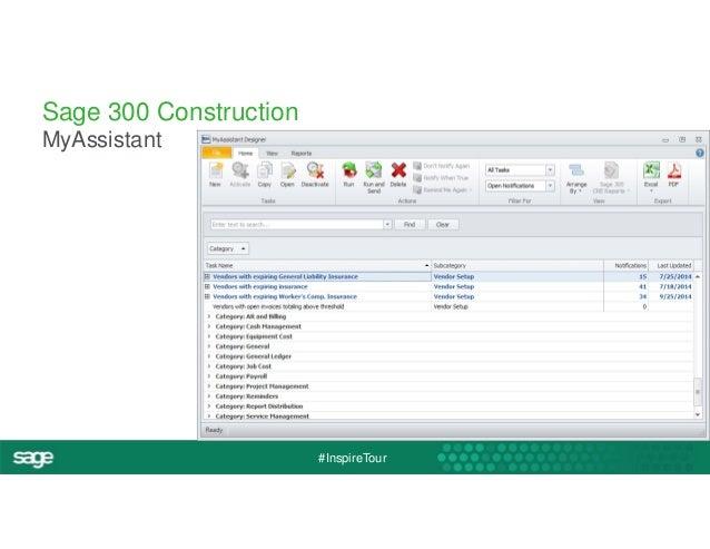 #InspireTour  Sage 300 Construction  MyAssistant