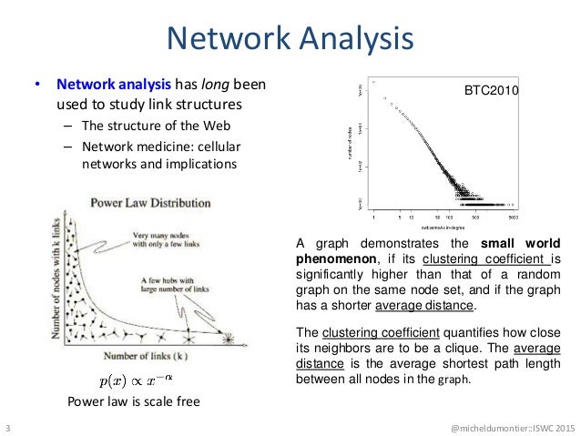 Network Analysis • Network analysis has long been used to study link structures – The structure of the Web – Network medic...