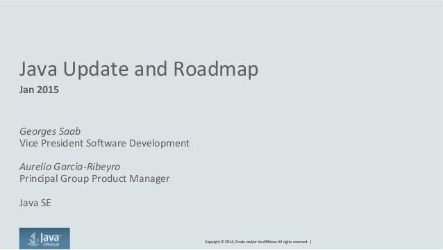 2015 Java update and roadmap, JUG sevilla