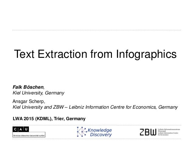 Text Extraction from Infographics Ansgar Scherp, Kiel University and ZBW – Leibniz Information Centre for Economics, Germa...