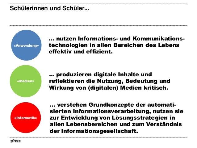 Competencies in the «Informatik» area «Informatik» Daten: «Die Schülerinnen und Schüler können Daten aus ihrer Umwelt dars...