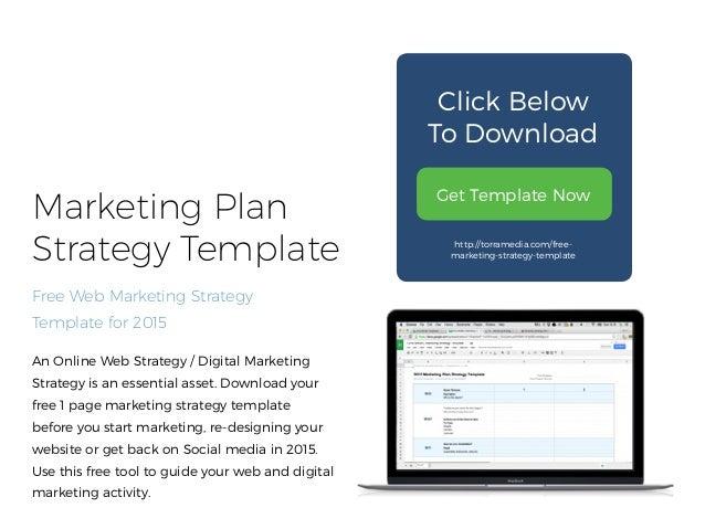 2015 Marketing Plan Strategy Template