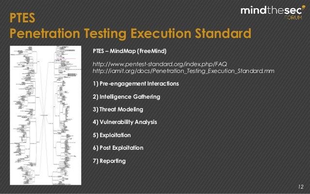 12 PTES Penetration Testing Execution Standard PTES – MindMap (FreeMind) http://www.pentest-standard.org/index.php/FAQ htt...