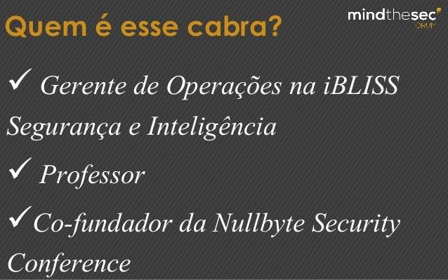 PREVENÇAO VS RESPOSTA A INCIDENTES: O FOCO MUDOU Slide 3