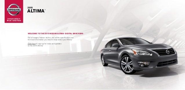 2015 Nissan Altima Brochure Neil Huffman Nissan