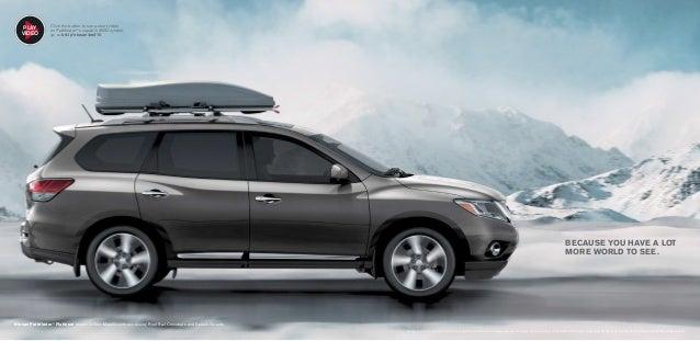 Nissan Pathfinder® Platinum Shown In Gun Metallic With Accessory Roof Rail  Crossbars ...