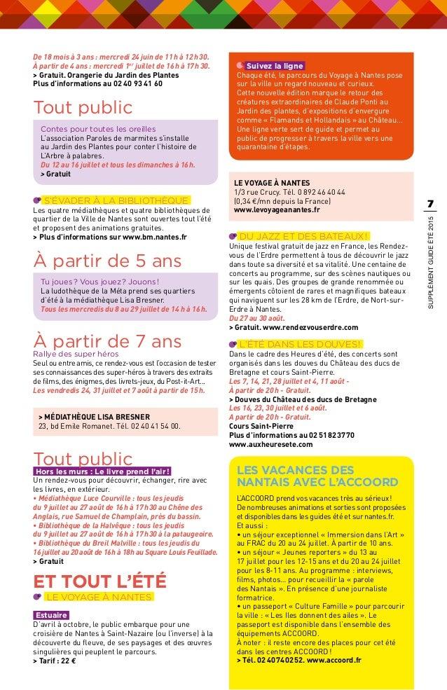 L\'été des 4-16 ans - Supplément Nantes Passion été 2015
