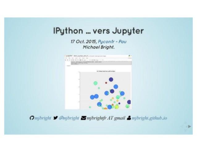 IPython vers Jupyter