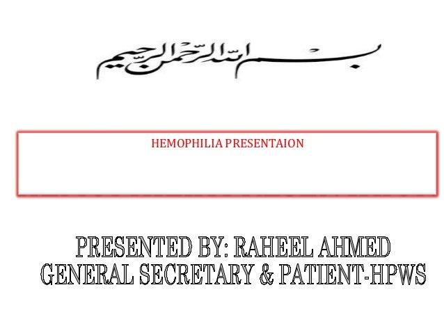 HEMOPHILIA PRESENTAION