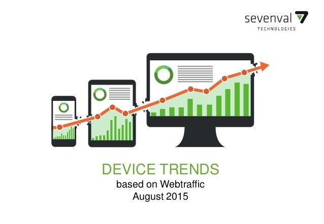 SEVENVAL DEVICE TRENDS DEVICE TRENDS based on Webtraffic August 2015