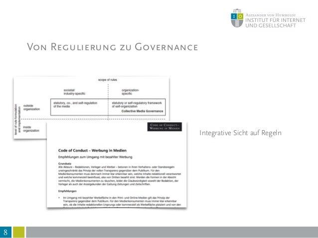9 Vielfältige Regelungsformen Von Regulierung zu Governance Discourse Values Competition Legislation Norms Expertise Knowl...