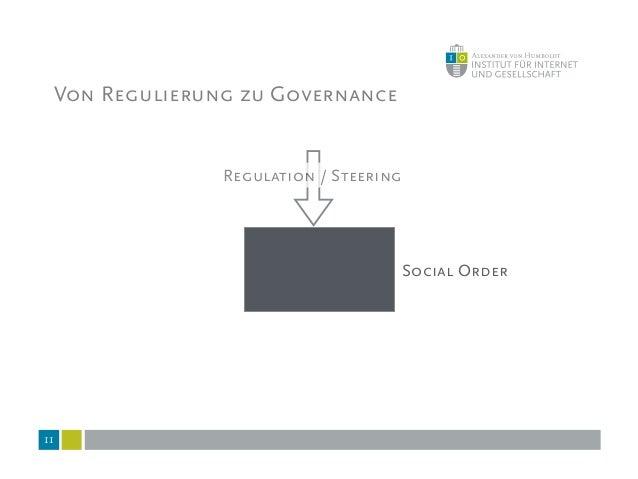 12 Social Order Regulation / Steering Coordination Von Regulierung zu Governance