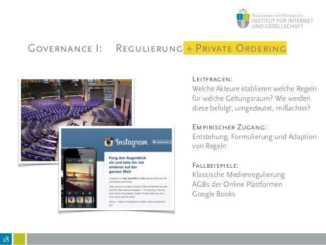 Governance II: Informelle Normen und Praktiken 19 Leitfrage: Welchen normativen Erwartungen sehen sich Akteure ausgesetzt,...