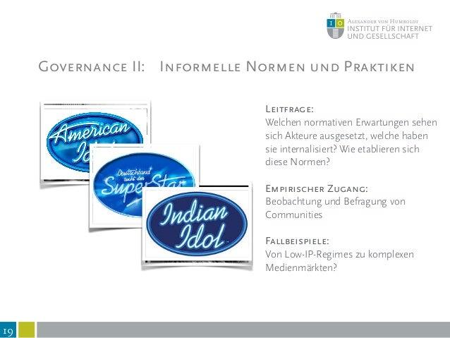 """Governance III: Kommunikation und Framing 20 Leitfrage: What is """"taken for granted""""? Prozess der (De-)Konstruktion geteilt..."""