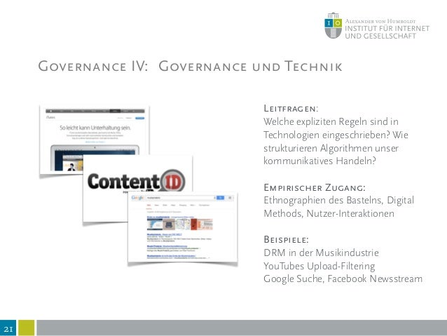 22 II. Fokus Governance durch Technik?