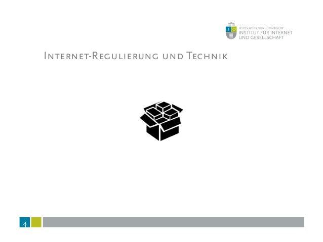 Internet-Regulierung und Technik 4
