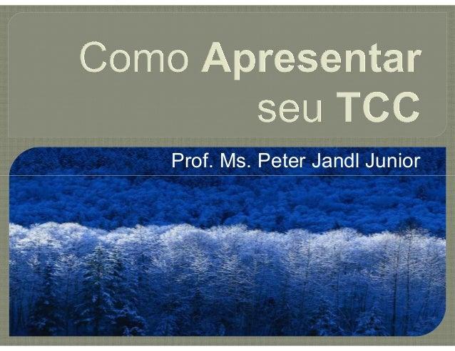 Prof. Ms. Peter Jandl Junior
