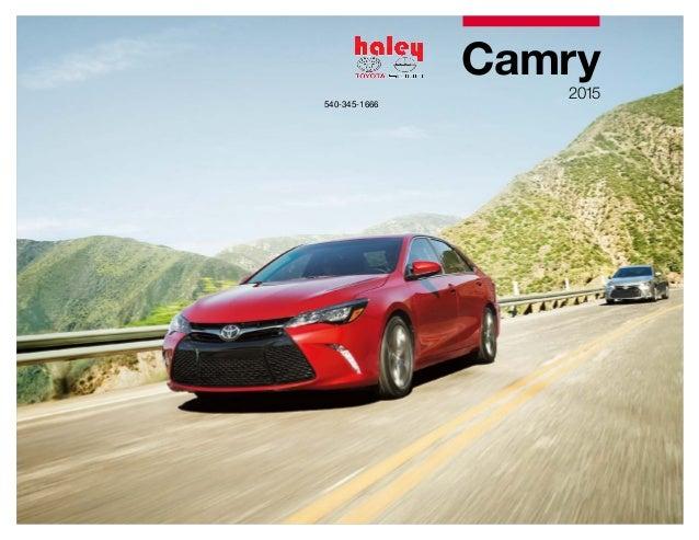 Haley Toyota Roanoke >> 2015 Toyota Camry Brochure - Haley Toyota Roanoke