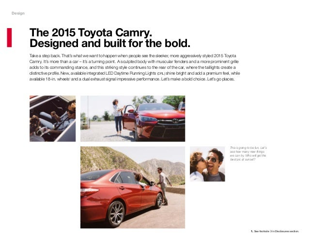2015 Toyota Camry Brochure Haley Toyota Roanoke