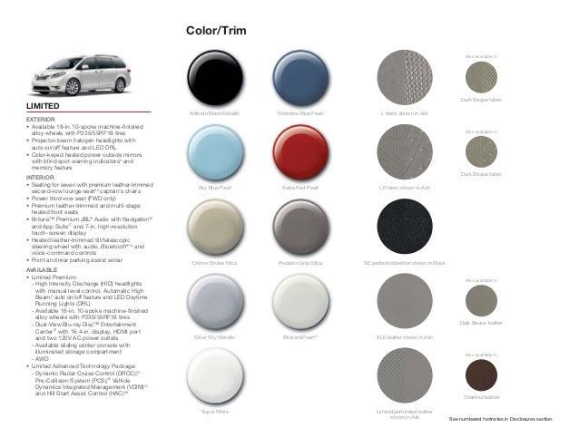 2015 Toyota Sienna Brochure Haley Toyota Roanoke