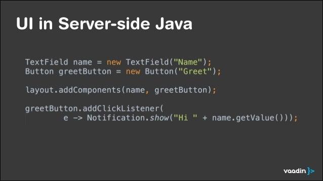 UI in Server-side Java