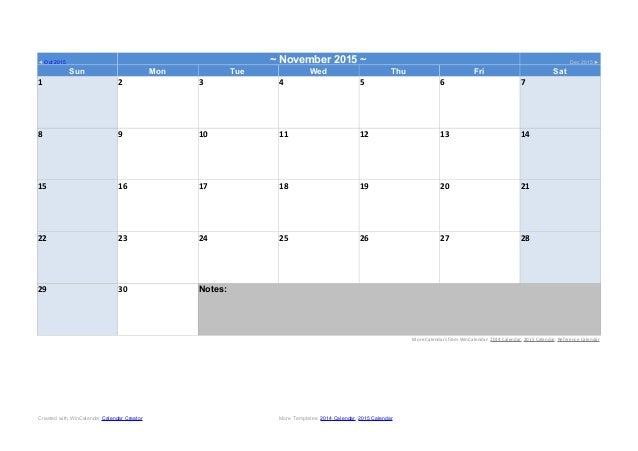 November Calendar Template 2015 from image.slidesharecdn.com