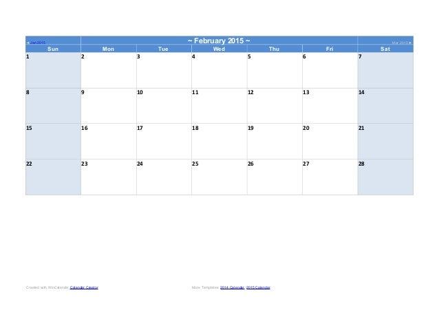 2014word Calendar Template