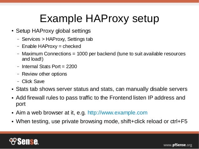Server Load Balancing and Failover - pfSense Hangout January 2015