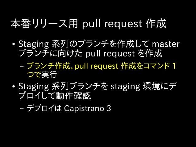 本番リリース用 pull request 作成
