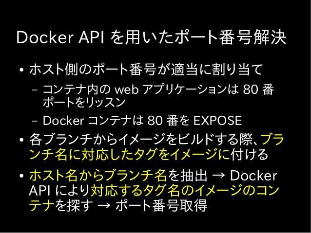 Docker コンテナの生成