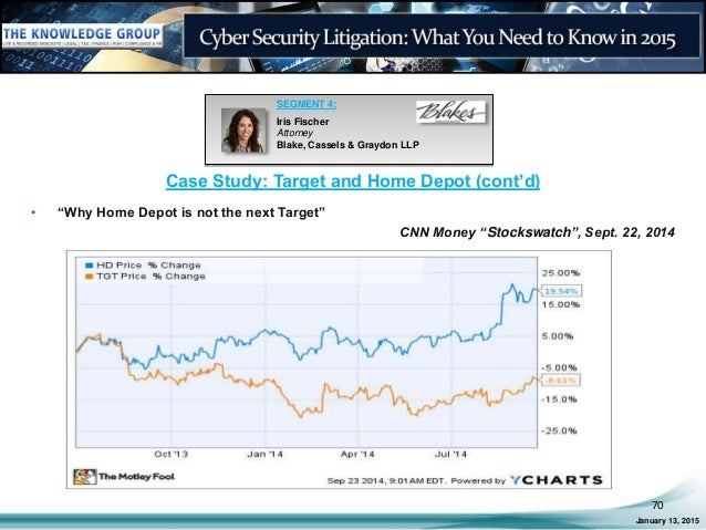 Cyber security litigation what you need to know in 2015 live webcast 70 case study target and home depot fandeluxe Images