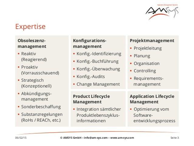 06/02/15 Seite 3 Expertise Obsoleszenz- management § Reaktiv (Reagierend) § Proaktiv (Vorrausschauend) § Strategisch...
