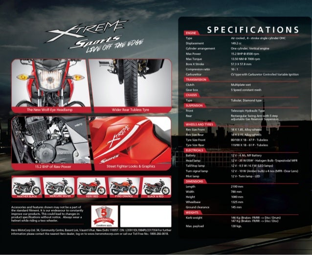 Hero Xtreme Sports Brochure  Updated