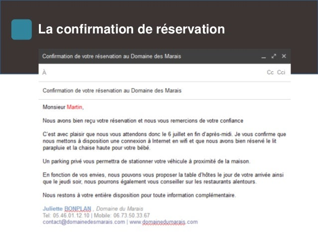 G rer sa relation client via l 39 email for Site francais reservation hotel