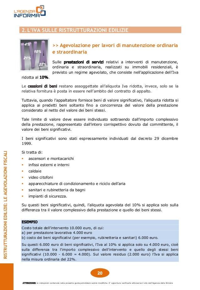Ristrutturazioni edilizie agevolazioni fiscali 2015 for Iva 10 manutenzione straordinaria