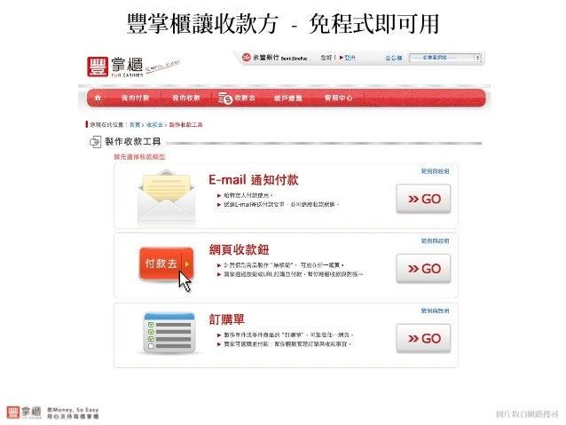 豐掌櫃讓收款方 - 免程式即可用 圖片取自網路搜尋