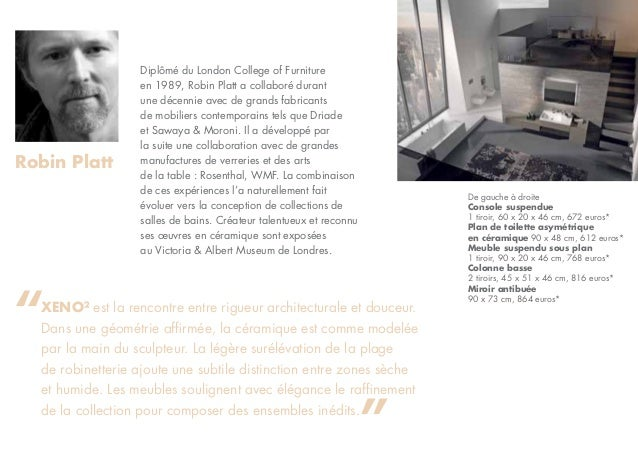 dossier de presse xeno par allia salle de bains. Black Bedroom Furniture Sets. Home Design Ideas