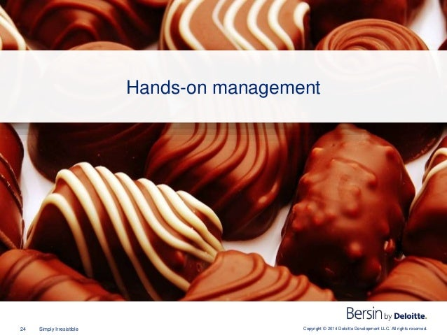 Copyright © 2014 Deloitte Development LLC. All rights reserved.24 Simply Irresistible Hands-on management