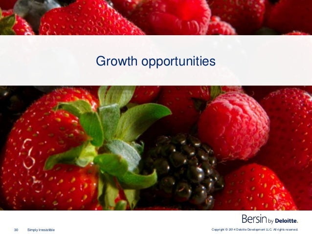Copyright © 2014 Deloitte Development LLC. All rights reserved.30 Simply Irresistible Growth opportunities