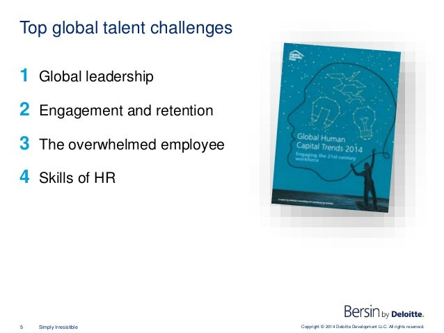 Copyright © 2014 Deloitte Development LLC. All rights reserved.5 Simply Irresistible 1 Global leadership 2 Engagement and ...