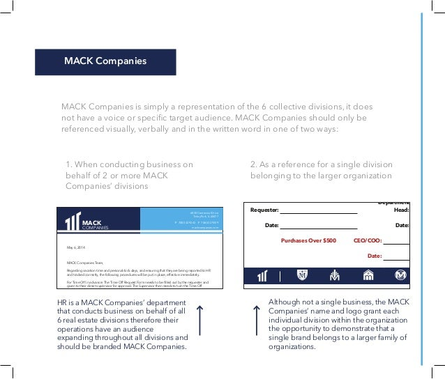 MACK Companies Brand Guide - Real estate commission invoice template word universal studios store online