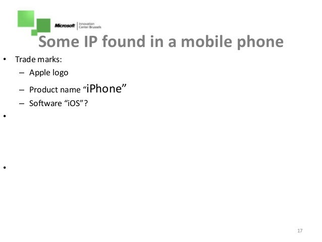 What Kind Of Intellectual Property Is The Apple Iphonde