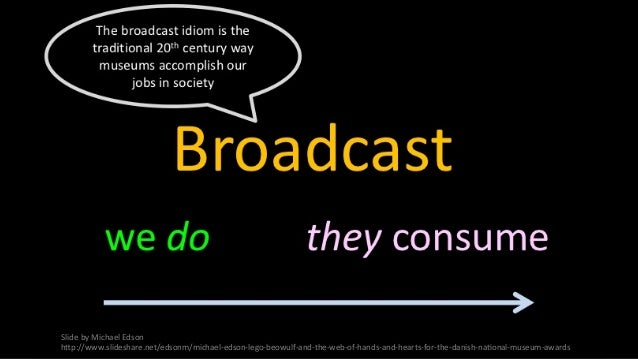 Slide  by  Michael  Edson   h-p://www.slideshare.net/edsonm/michael-‐edson-‐lego-‐beowulf-‐and-‐the-‐web-‐o...