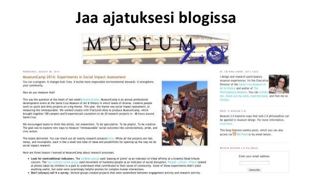 Kirjoita  blogiin   • Oma  blogi     • OrganisaaPon  blogi   • Ajatusten  kehi-äminen  ja  testaami...