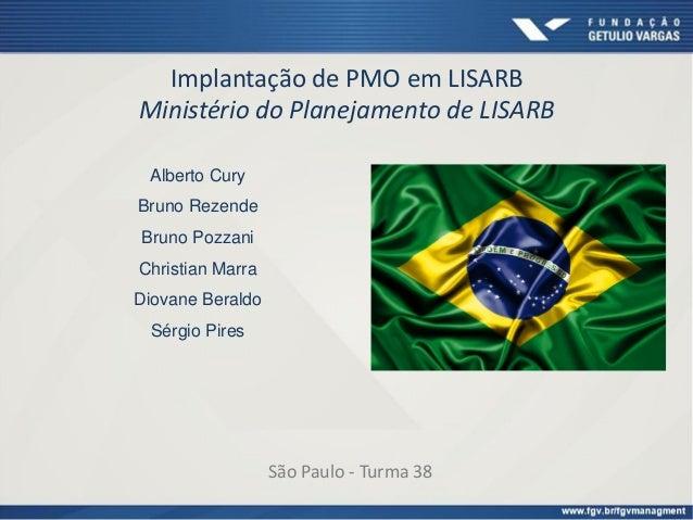 Implantação de PMO em LISARB Ministério do Planejamento de LISARB Alberto Cury Bruno Rezende Bruno Pozzani Christian Marra...