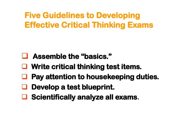 Creating tests that measure critical thinking in nursing education malvernweather Image collections